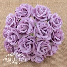 Lilac Mulberry Paper Chelsea Roses - 35mm