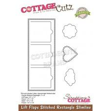 Lift Flaps Stitched Rectangle Slimline - Cottage Cutz