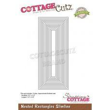Nested Rectangles Slimline - Cottage Cutz