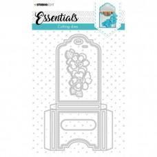 Cutting Die Giftbox Merci Small Essentials Nr.392 - Studio Light