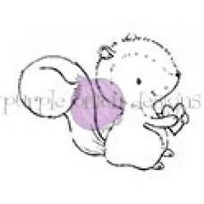 Pecan (Squirrel Holding Heart) - Purple Onion Designs