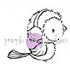 Silver (Winter Bird Sitting) - Purple Onion Designs