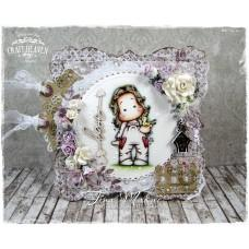 OOAK Handmade Greeting Card - Tilda with Early Bird