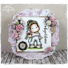 OOAK Handmade Greeting Card - Tulip Love Tilda